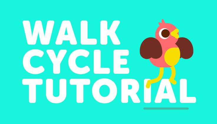 After Effects walk cycle tutorial using only shape layers with no plugins