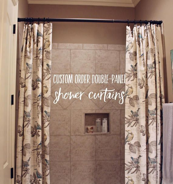 Custom Order Double Panel Shower Curtains Custom Shower Curtains