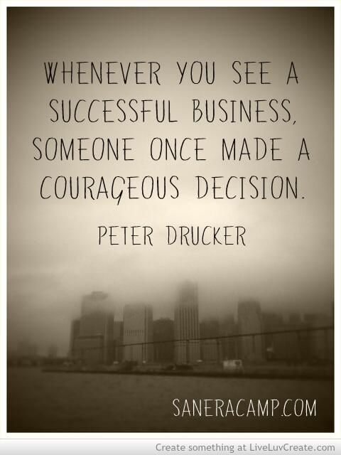 Peter Drucker quote on successful business.