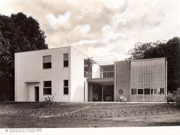 """Giuseppe Terragni. Casa sul lago per l'artista alla """"Mostra dell'abitazione"""", V Triennale di Milano 1933"""