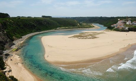 Walking Portugal's Atlantic coast - The Guardian 15.03.2013 | The Rota Vicentina is a new trail along Portugal's Atlantic coast and, with its cheap hotels and hearty cuisine, it's already perfect for walkers | Photo: Praia de odeceixe, Portugal