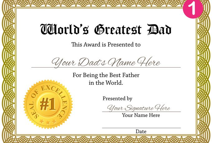 I will create a personalized Worlds GREATEST Dad ...