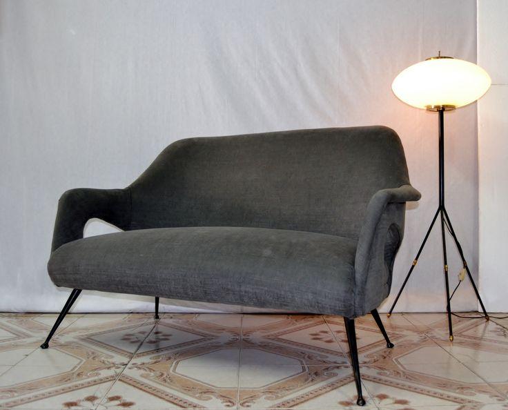 Divano,sofa restaurato design style Gio Ponti 1950 / 60
