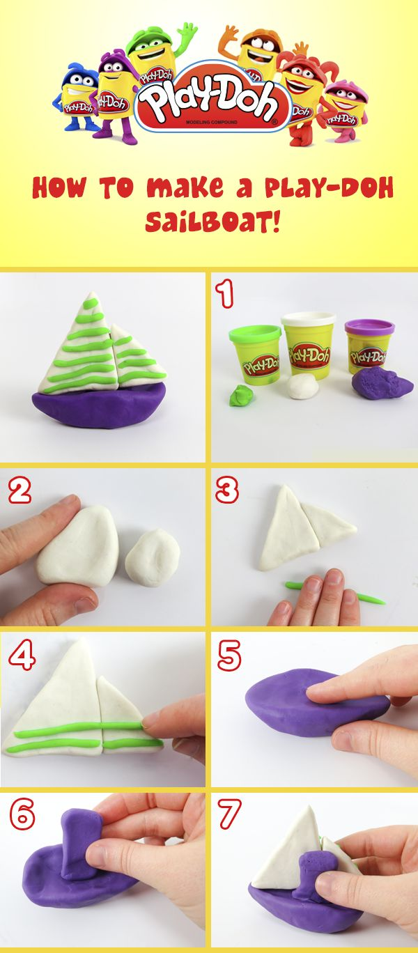 Set sail in your own Play-Doh sailboat!