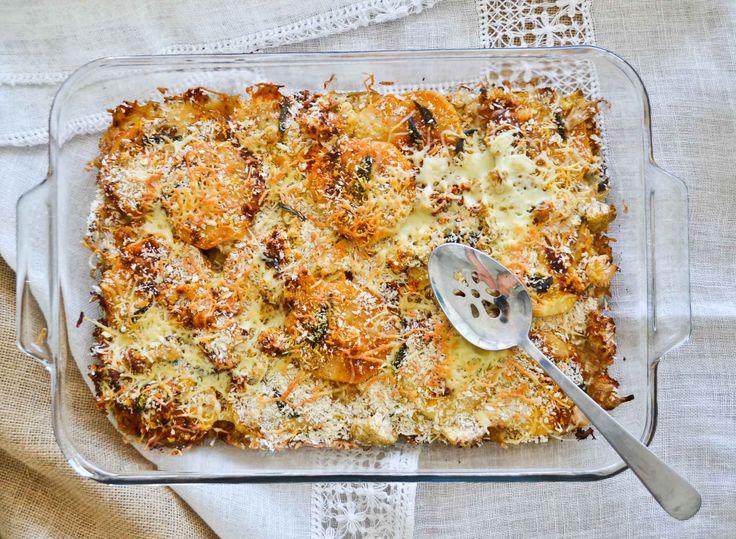 Cazuela de Calabaza y Coliflor | Sweet Potato and Cauliflower Gratin