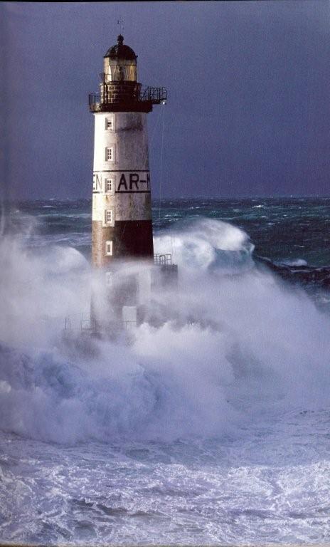 Ar-Men Lighthouse, Finistere France
