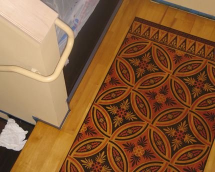 17 Best Images About Painted Rugs On The Floor On