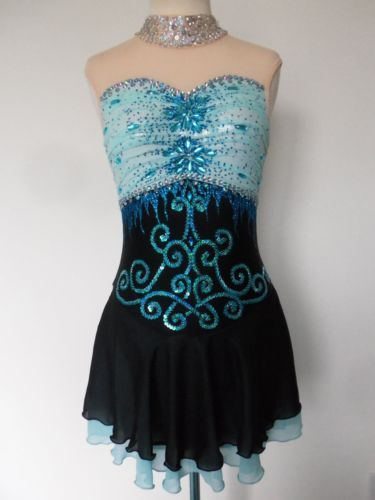 CUSTOM-MADE-NEW-FIGURE-ICE-SKATING-TWIRLING-DRESS-COSTUME