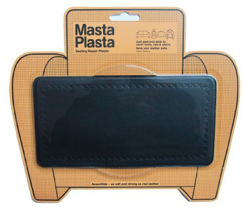 MASTAPLASTA offer the best MASTAPLASTA peel and stick repair patch for holes, rips and stains in car seats, sofas, bags and leather jackets. 8 inches by 4 inches PLAIN STRIP DESIGN/BLACK.