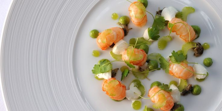 Beautiful langoustines are the star in this summer recipe by Adam Simmonds. Langoustines, oysters and celery match exceptionally in this tasty langoustine recipe.