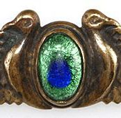 Identifying Stones Used in Vintage Costume Jewelry: Peacock Eye Glass Cabochon