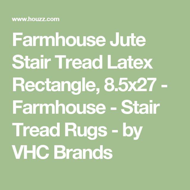 Farmhouse Jute Stair Tread Latex Rectangle, 8.5x27 - Farmhouse - Stair Tread Rugs - by VHC Brands