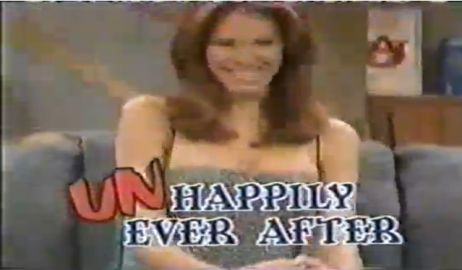 "The Auburn sign over Nikki Cox's left shoulder in the 5th season of ""Unhappily Ever After"" 