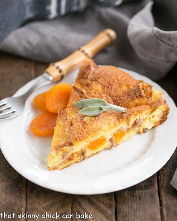 apricot prosciutto strata a fabulous make ahead breakfast casserole - Strata Recipes For Brunch