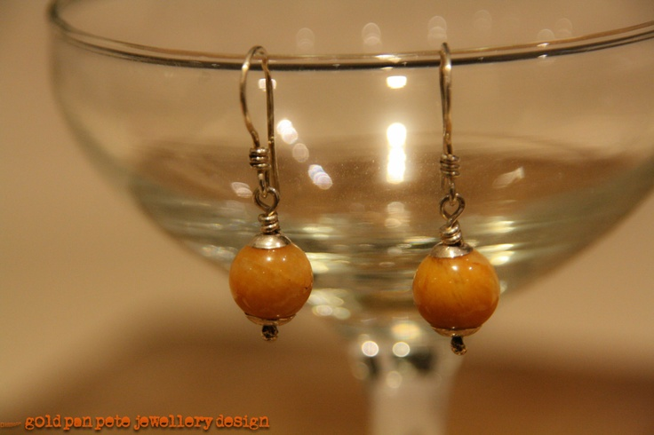 Sterling Silver and Amber Drop Earrings with Shepherd's Hook. £12.99, via Etsy.