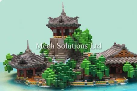 3D Printing, miniature scale, pictures, photopolymer, SLA, my minecraft world, game model, gift, high precision, post processing