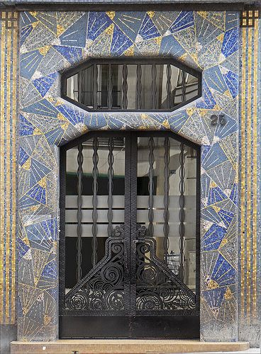 La maison bleue (art déco, Angers), France
