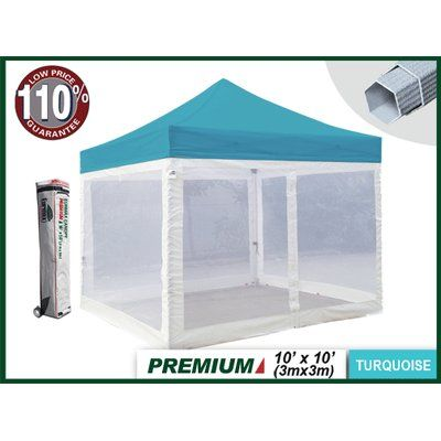 Eurmax Premium 10 Ft. W x 10 Ft. D Canopy with Screen Zipper Walls  sc 1 st  Pinterest : 10x10 canopy with netting - memphite.com