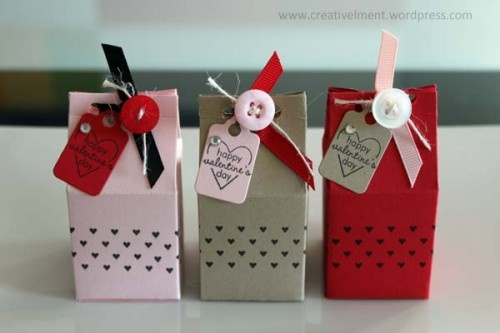 Milk carton treat boxes, so cute!