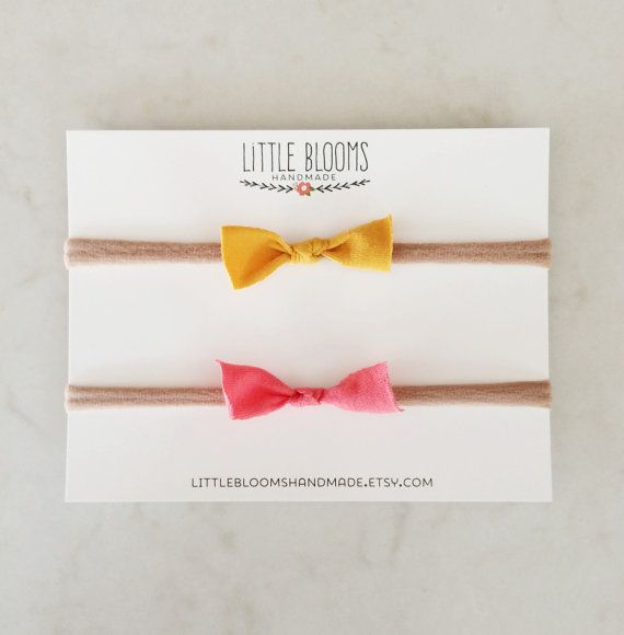 Fabric Knot Bows  solid colors  nylon by LittleBloomsHandmade