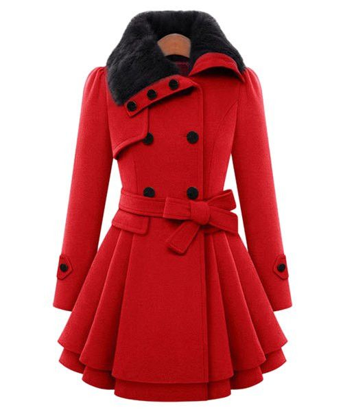 Stylish Turn-Down Collar Long Sleeve Solid Color Coat For Women Dispatch: Ships within 3 business days.FREE SHIPPING