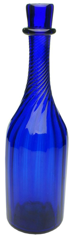 Cobalt Blue Glass Pontil Georgian Victorian Decanter... Click VISIT to find out how much the bottle sold for and see 1000's of more Bottles at MAD On Collections...  Check us out on Facebook - https://www.facebook.com/Mad-on-Bottles-818609791640083/...  Please feel free to pin or share this Bottle or any content from MADonC.com. MADonC.com is for passionate collectors of all objects with 1000's of categories on view...  #bottle #bottles #cobaltblue #antiquebottle