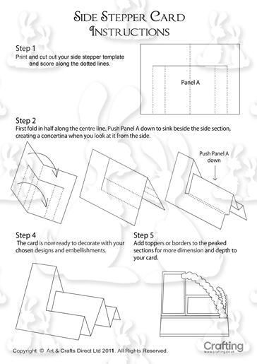 Side Stepper Card Instructions