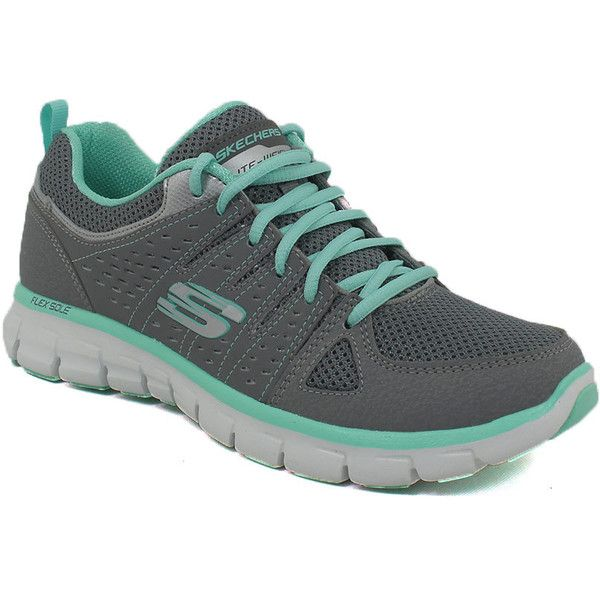 Skechers Sport 14353 065 M - 6.5 M Women's Shoes ($60) ❤ liked on Polyvore featuring shoes, boots, mult, gray boots, gray shoes, skechers, skechers shoes and skechers footwear