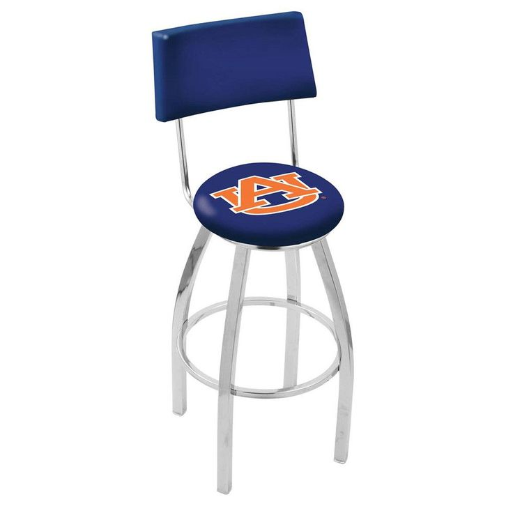 Auburn Tigers Chrome Swivel Barstool w/ Back