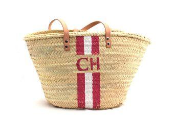 monogram beach basket