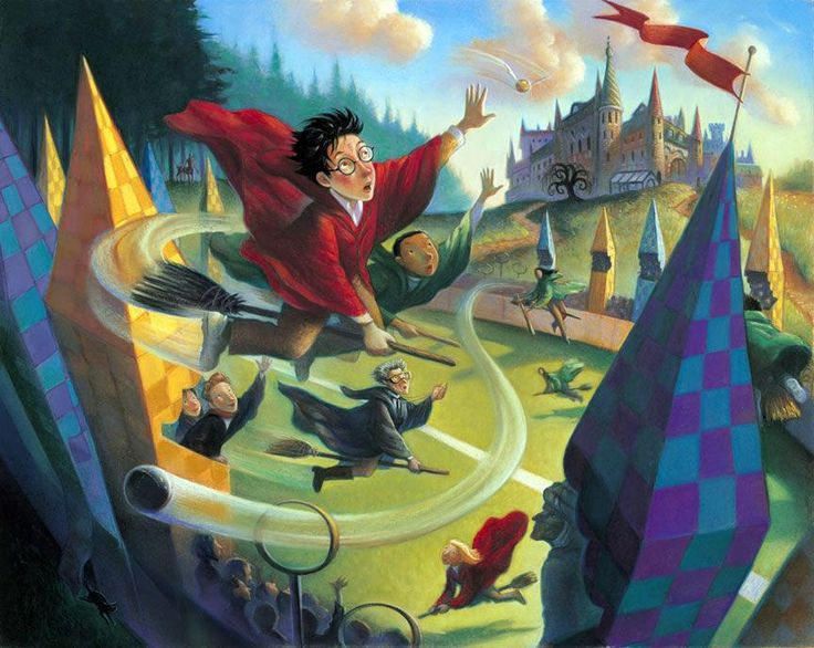 Harry Potter drawings by Mary GrandPre, who drew the HP-covers