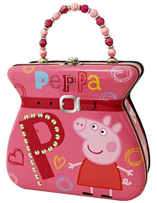 BRAND NEW PEPPA PIG Lunch Box Carry All Tin Belt Buckle Purse Tin Box Company