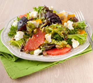 Orange and Grapefruit Salad with Pistachios and Goat Cheese