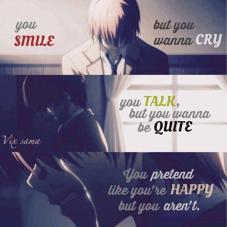 Você sorri, mas você quer chorar, fala, mas quer ser bem, você finge que é feliz, mas você não é [☺]