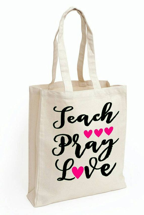 Teacher gift-tote bag custom tote bag teacher by GracefulArrow