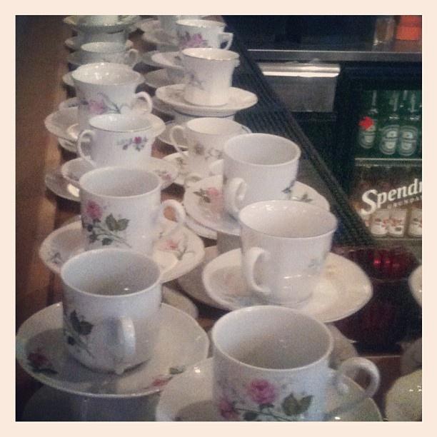 Köp en kaffe eller te och få med dig koppen hem @ Vintagemässan #vintagemalmo