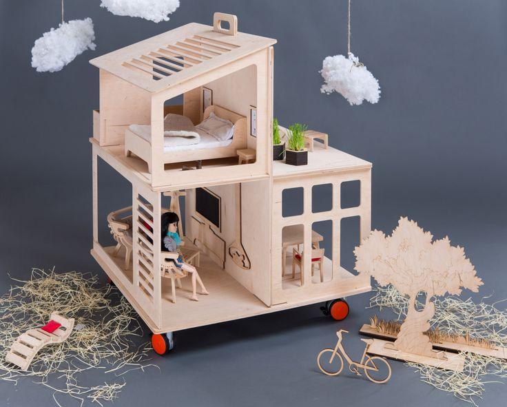 die besten 17 bilder zu wooden doll house auf pinterest,