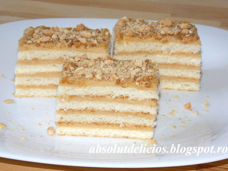 Caramel layer cake, caramel cream, cake sheets