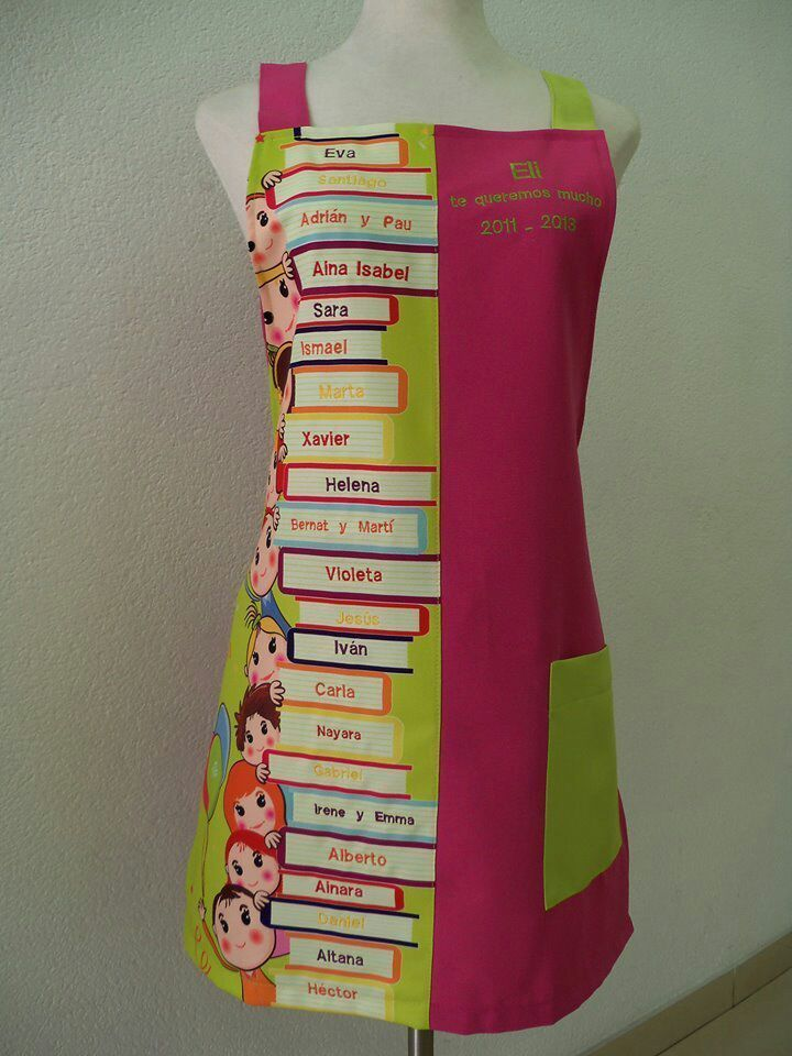 Regalos originales para maestras - Neus Moda batas maestra, babis maestra, babis colegio, uniformes peluquería y estética