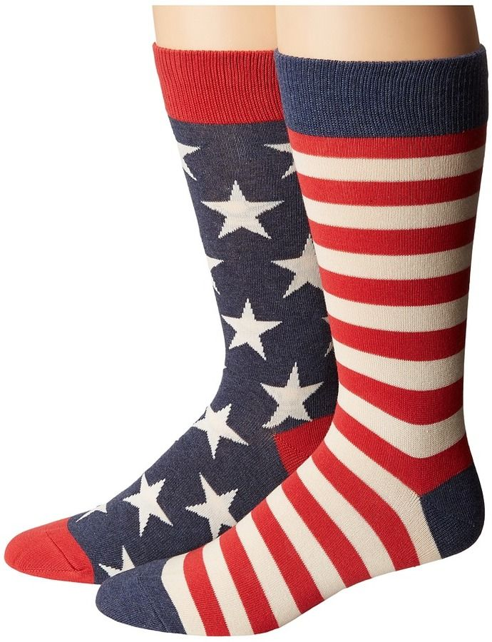 Socksmith - Flag Men's Crew Cut Socks Shoes
