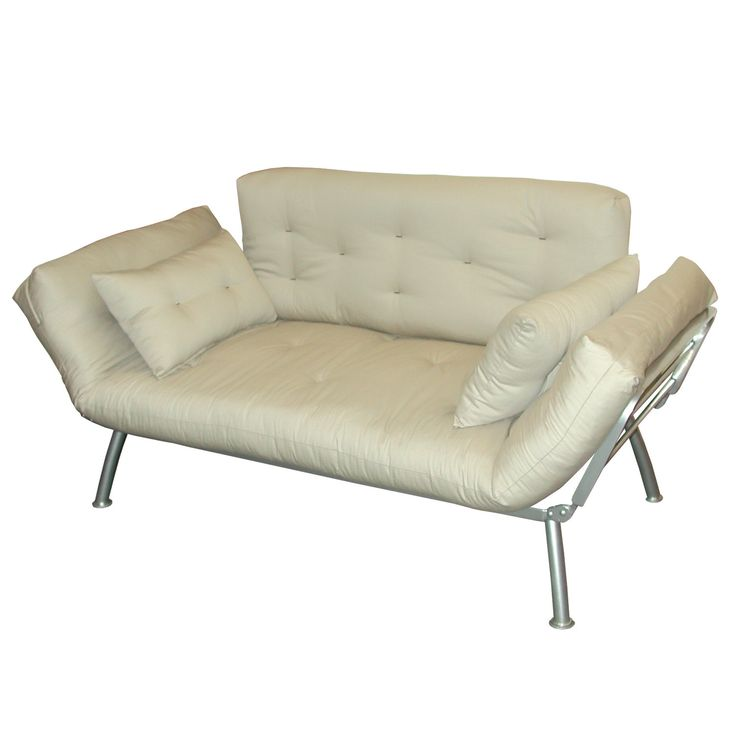 Elite Products Mali Convertible Twin Futon With Pewter Metal Frame Could Just Get And Replace An Organic Mattress