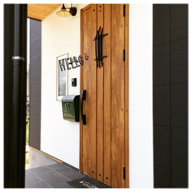 玄関/緑のポスト/メールボックス/niko and… /玄関ドア/ポーチライト…などのインテリア実例 - 2015-08-01 12:13:12 | RoomClip(ルームクリップ)