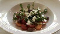 Salade de pastèque et tomates cerises au vinaigre balsamique blanc et huile d'olive extra-vierge de Sébastien Houle | Recettes-de-chefs.ca