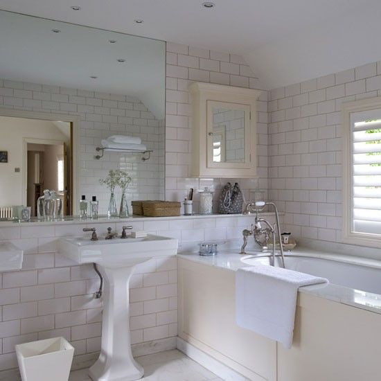 Bathroom Buckinghamshire Cottage House Tour Photo Gallery Country Homes Interiors Brick Bathroomtiled