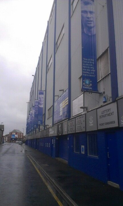 Goodison Park, home of Everton Football Club...
