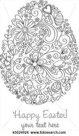 Easter Egg View Large Illustration