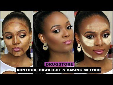 drugstore  easy contour highlight  baking method