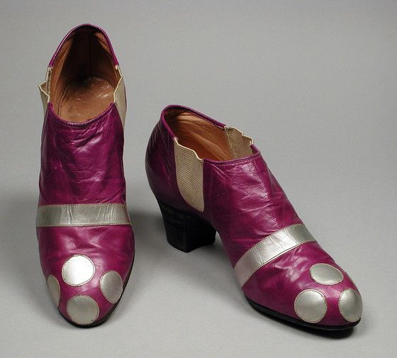 Pair of Ankle Boots | LACMA Collections Erté 1920s