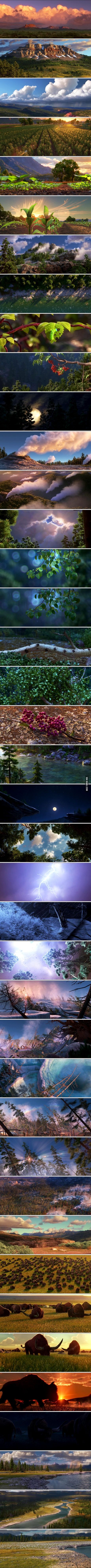 """Movie """"The Good Dinosaur"""" landscapes are amazing"""