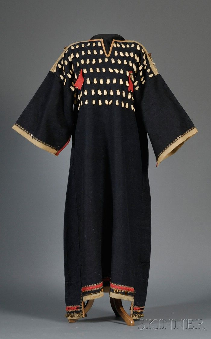 Lakota 19th century Trade Cloth Dress with Elk Teeth Adornment